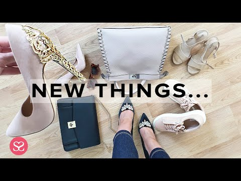 TRYING-ON MY NEW THINGS! | Designer Dupes Haul (inc. Handbags & Shoes) JustFab | Sophie Shohet | AD thumbnail