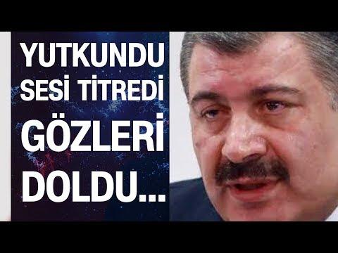 Sağlık Bakanı Fahrettin Koca rakamı açıkladıktan sonra gözleri doldu, sesi titredi