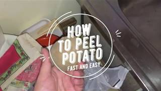 How to peel potato quickly and easy
