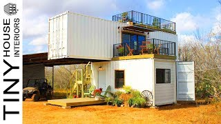 Beautiful Stack 'em Made From Double Shipping Containers Home | Tiny House Interiors
