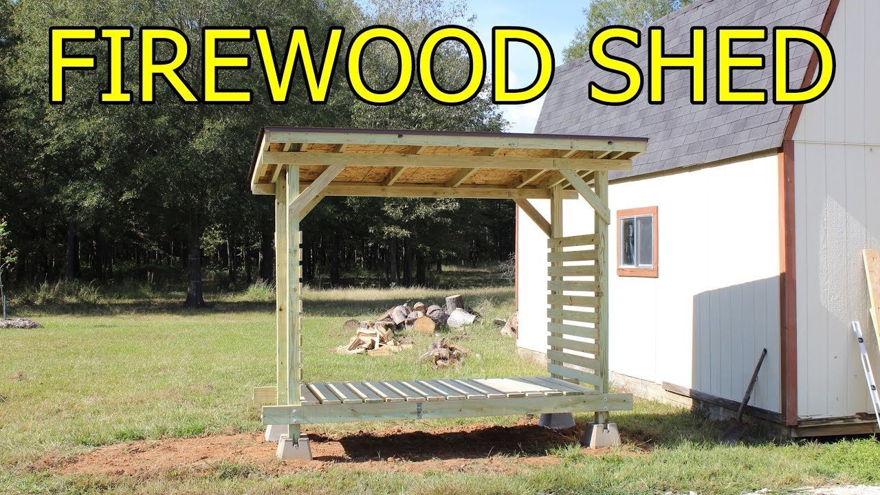 Firewood shed do it yourself youtube firewood shed do it yourself solutioingenieria Image collections