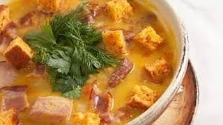 Очень вкусный гороховый суп с курицей (Готовим дома 1)