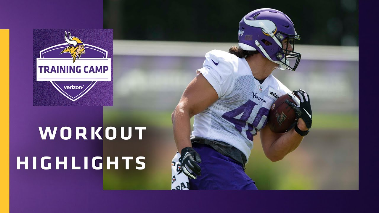 Highlights From Minnesota Vikings Rookie Practice at 2020 Training Camp - August 11