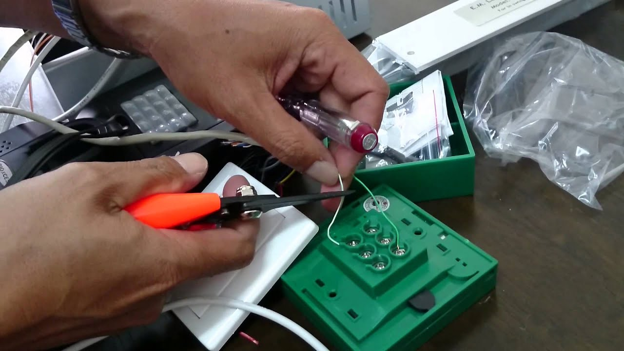 small resolution of door access control system part 3 installing emergency break glass override keyswitch