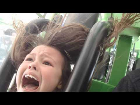 Girl Freaks Out on Scary Amusement Park Ride!