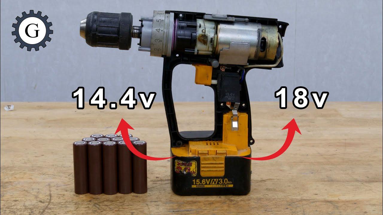 Li-ion 18v or Li-ion 14.4v Should I Build for Nimh 15.6v Power Tool?