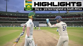 Day 4 - 3rd Test South Africa vs England Highlights Prediction Cricket