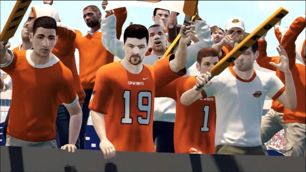 NCAA Football 13 : Oklahoma State Cowboys Pre Game Intro ...
