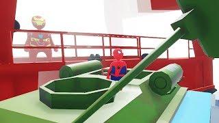 СТРОИМ ТАНК в HUMAN FALL FLAT пластилиновые герои Володя Человек Паук и Железный Человек