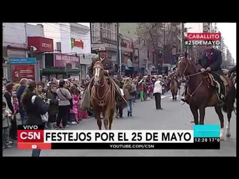 C5N - 25 de Mayo: Festejos en el barrio porteño de Caballito