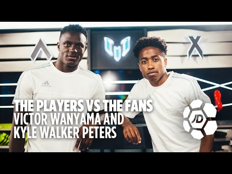 Victor Wanyama and Kyle Walker Peters Vs Teddy and Cameron at FIFA (Players Vs Fans)