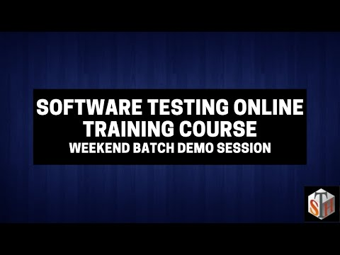 Demo - Software Testing Online Training Course - Weekend Batch Demo Session