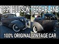 VINTAGE 1937 HUDSON TERRAPLANE - Walk Around, Start Up, Test Drive -  100% ORIGINAL