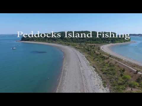 Drone View over Peddocks Island