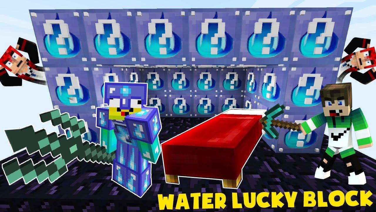 MINI GAME : WATER LUCKY BLOCK BEDWARS ** SET ĐỒ VIP CỦA NOOB VÀ CHIẾN THẮNG HỦY DIỆT