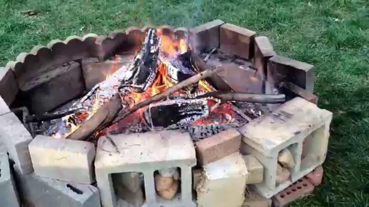 How to build a bigger backyard campfire (very simple job ...