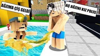 KIZ POLİS'in HAVUZUNA ÇİŞ YAPTIM! 😱 - Minecraft