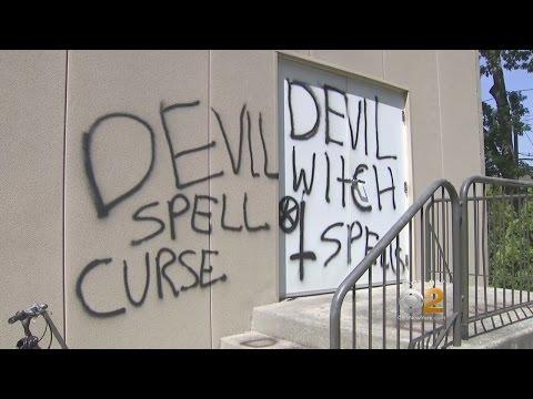 Long Island Church Vandalized With Satanic Symbols
