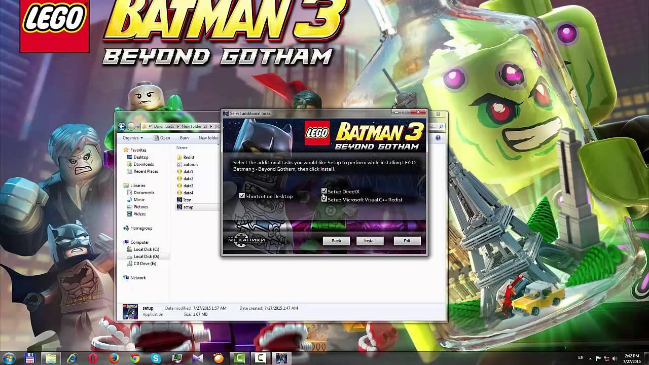 Скачать лего бэтмен 3 через торрент на русском.