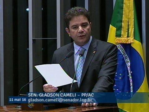 Gladson Cameli manifesta voto pela admissibilidade do processo de impeachment de Dilma