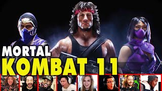Reactors Reaction To Seeing Rambo, Mileena & Rain In MK11 Kombat Pack 2 Trailer | Mixed Reactions