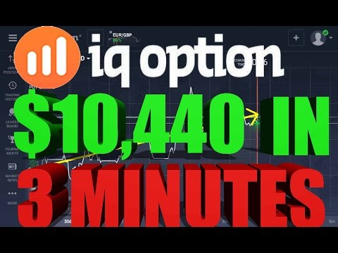 IQ Option Trading $10,440 In 3 MinutesTrading