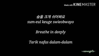 Jungkook BTS Cover 한숨 (Breathe) by Lee Hi (LYRICS ROM+INDO+ENG)
