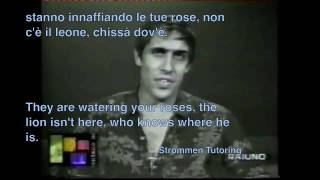 Azzurro Adriano Celentano Karaoke con Testi with Lyrics English and Italian