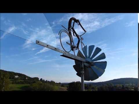 Windrad Eigenbau Edelstahl Radfahrer Windmill Cyclist Youtube
