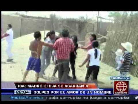 América Noticias - 060114 - Ica: madre e hija se agarraron a golpes por el amor de un hombre