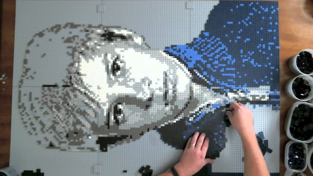 Tyler  a LEGO mosaic portrait  8 colors  13 800  LEGO parts    YouTube  Tyler  a LEGO mosaic portrait  8 colors  13 800  LEGO parts    YouTube