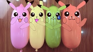Making Slime With Funny Balloons Crunchy Doodles #20|RELAXING SATISFYING VIDEO| AN SLIME
