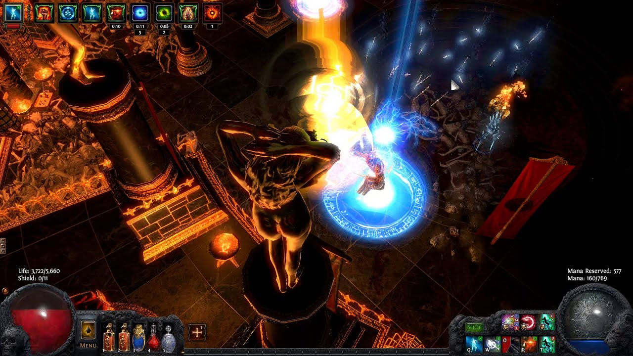 path of exile reave ranger easy shrine piety kill 81 map