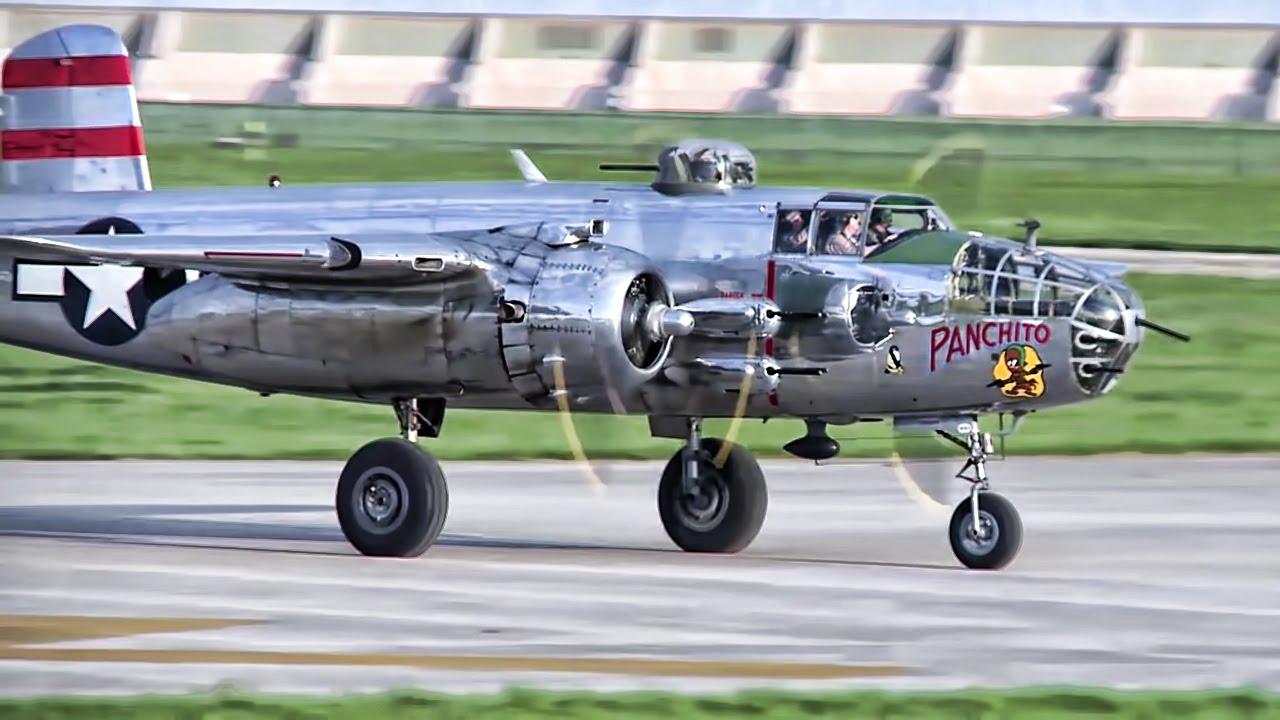 B-25 Bombers Land • 75th Anniversary Of Doolittle Raid