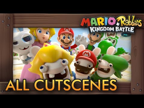 Mario + Rabbids Kingdom Battle - All Cutscenes The Movie HD
