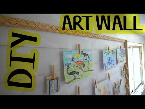 Building an ART WALL For the Bedroom Makeover