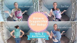Tragehilfen für Neugeborene | TaiTai, Fräulein Hübsch, Bondolino & Mysol |Kathi´s Daily Life
