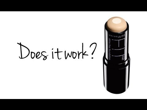 MAYBELLINE ANTI-SHINE FOUNDATION STICK REVIEW/DEMO