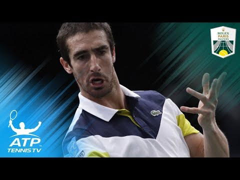 Jaw-dropping Pablo Cuevas tweener shot vs Nadal   Rolex Paris Masters 2017