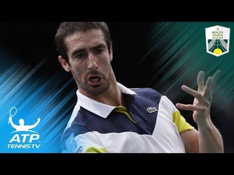Jaw-dropping Pablo Cuevas tweener shot vs Nadal | Rolex Paris Masters 2017