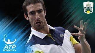 Jaw-dropping Pablo Cuevas tweener shot vs Nadal   Rolex Paris Masters 2017 thumbnail