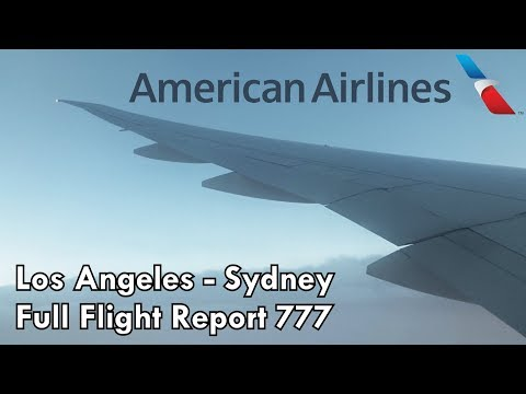 American Airlines FULL FLIGHT Economy Trip Report | 777-300ER | LAX-SYD | 1080P HD