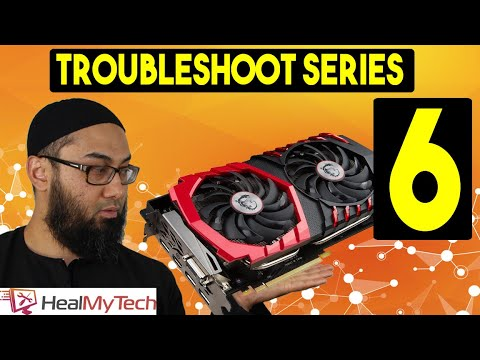 Graphics card black screen no signal - YouTube