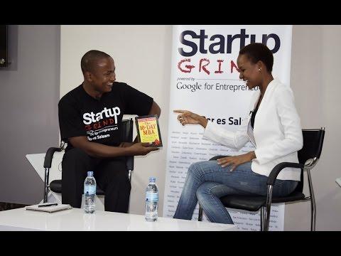 Nuya Hellen Dausen (Nuya's Essence) at Startup Grind Dar es Salaam