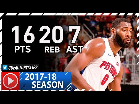 Andre Drummond Full Highlights vs Hawks (2017.11.10) - 16 Pts, 20 Reb, 7 Ast