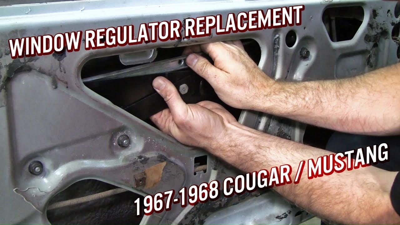 medium resolution of window regulator replacement 1967 68 cougar mustang youtube 1970 mustang window diagram