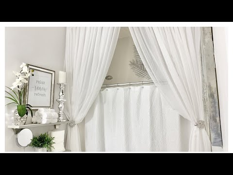 PART 2 - BATHROOM DECORATING IDEAS - SHOWER CURTAIN AND DECORATIVE TOWELS