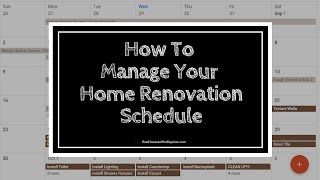 HOME RENOVATION SCHEDULE (SO YOU KNOW HOW LONG IT WILL TAKE)