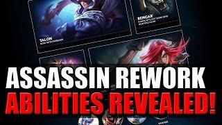 ASSASSIN REWORK ABILITIES REVEALED!!! - League of Legends