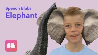 Speech Blubs ELEPHANT Storybook - Speech Exercises for Kids!